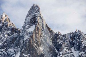 Les drus, montagne au dessus de chamonix mont blanc. Au dessus de l'aiguille à Bochard