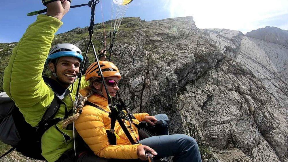 grand voie escalade parapente biplace combo suisse