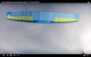 test skin 3 P 18 de niviuk. parapente montagne monosurface light pour hike and fly et combos alpinisme et parapente. essai vidéo et avis